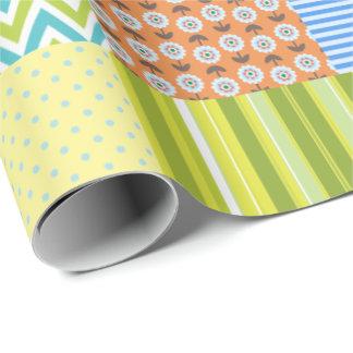 Édredon de patchwork papier cadeau