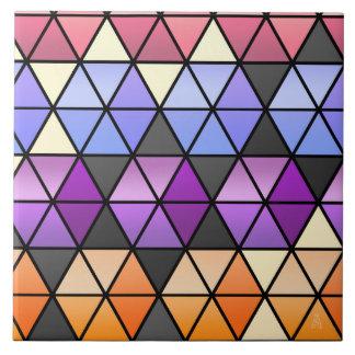 Édredon d'hexagone dans le lilas, orchidée, orange grand carreau carré