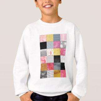 Édredon rose et argenté sweatshirt