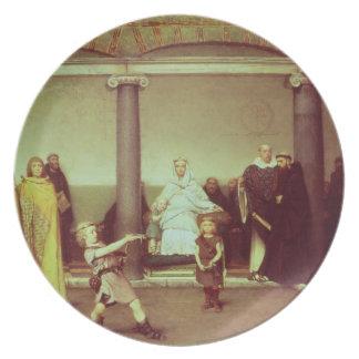 Éducation d'Alma-Tadema   des enfants de Clothilde Assiettes En Mélamine