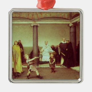 Éducation d'Alma-Tadema | des enfants de Clothilde Ornement Carré Argenté