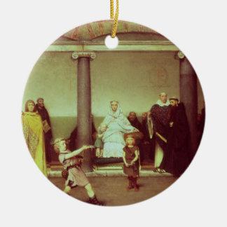 Éducation d'Alma-Tadema | des enfants de Clothilde Ornement Rond En Céramique