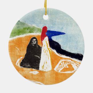 Edvard Munch deux femmes sur le rivage Ornement Rond En Céramique