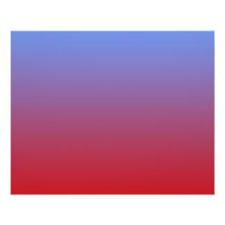 Effacement rouge aux couleurs bleues, conception s prospectus 11,4 cm x 14,2 cm