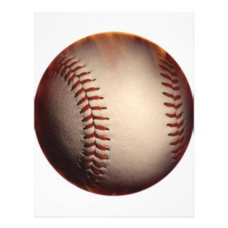 Effet brûlant de base-ball prospectus 21,6 cm x 24,94 cm