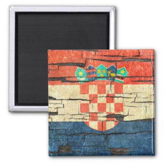 Effet croate criqué de peinture d'épluchage de magnet carré