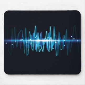 Effet de la lumière de vague audio abstraite troub tapis de souris