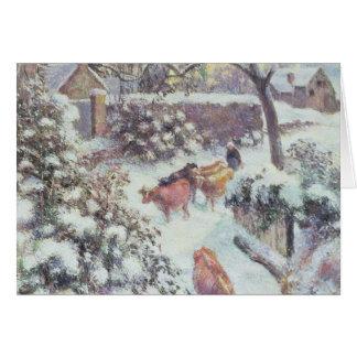 Effet de Neige un Montfoucault, 1882 Carte De Vœux