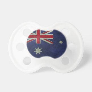 Effet en acier âgé par drapeau australien tétines pour bébé