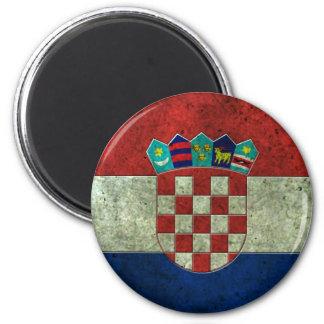 Effet en acier âgé par drapeau croate magnets
