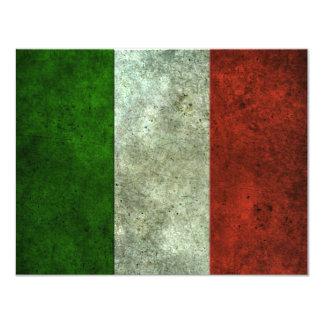 Effet en acier âgé par drapeau italien carton d'invitation 10,79 cm x 13,97 cm
