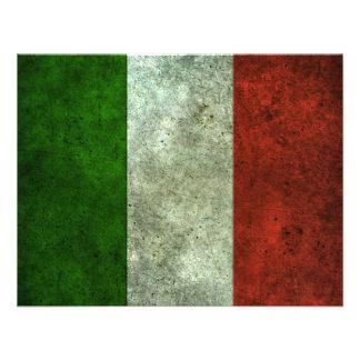 Effet en acier âgé par drapeau italien cartons d'invitation