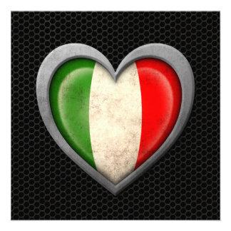 Effet en acier de maille de drapeau italien de coe bristols