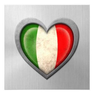 Effet italien d acier inoxydable de drapeau de coe invitations personnalisées