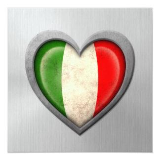 Effet italien d'acier inoxydable de drapeau de invitations personnalisées