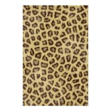 Effet pelucheux de fourrure de peau de léopard de  papier à lettre personnalisable