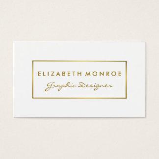 Effet simple de blanc et de feuille d'or cartes de visite