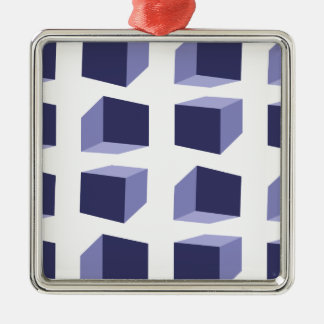 effet visuel ornement carré argenté