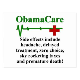 Effets secondaires d'ObamaCare Cartes Postales
