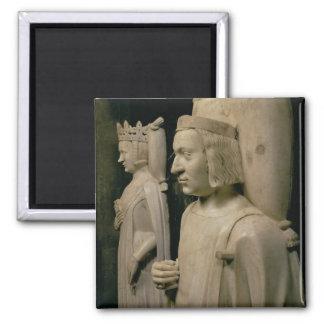 """Effigies de la tombe de Charles V le """"sage"""" (13 Magnet Carré"""