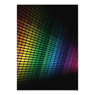Égaliseur multicolore invitations personnalisées