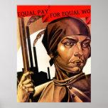 Égalité de salaires de droits de la femme de ~ d'A Poster