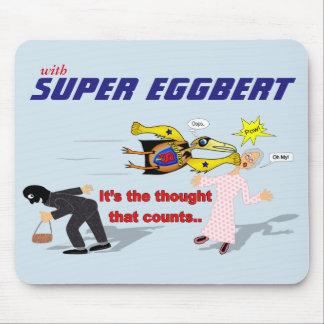 Eggbert superbe dans l'action ! Tapis de souris