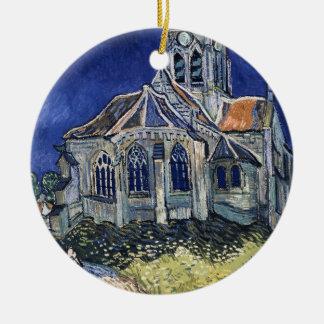 Église Auvers-sur-Oise peignant Vincent van Gogh Ornement Rond En Céramique