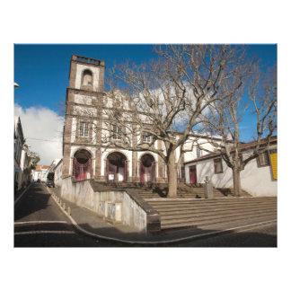 Église aux Açores Prospectus 21,6 Cm X 24,94 Cm