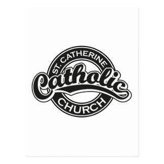 Église catholique de St Catherine noire et blanche Carte Postale