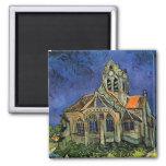 Église chez Auvers, Van Gogh, impressionisme vinta Aimants Pour Réfrigérateur