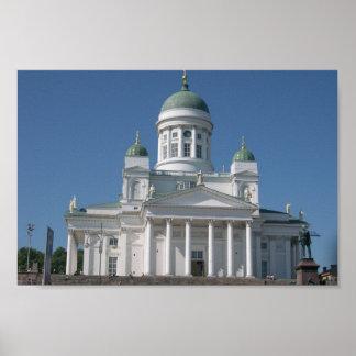 Église Cuivre-Voûtée à Helsinki Posters