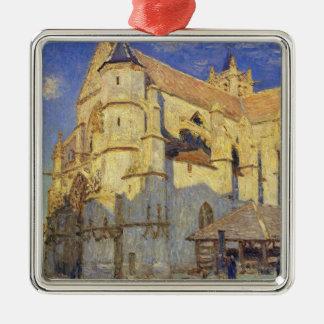Église d'Alfred Sisley   chez Moret, temps givré Ornement Carré Argenté
