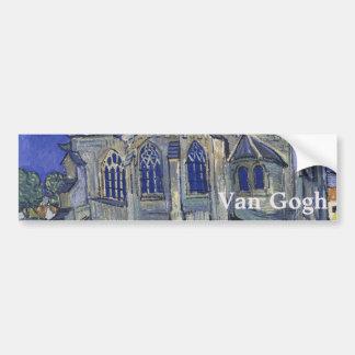 Église dans l'Auvers-sur-Oise par Vincent van Gogh Adhésif Pour Voiture