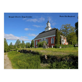 Église de Borgsjö, Ånge Suède, Pho… Carte Postale