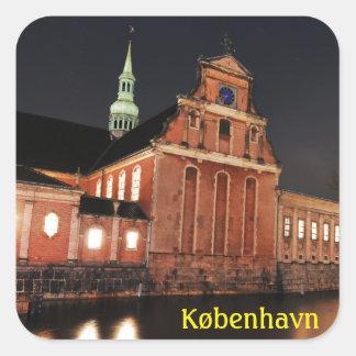 Église de Holmens (Kirke) à Copenhague, Danemark Sticker Carré