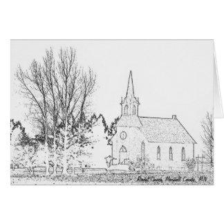 Église de la carte de note B&W Rindal, le comté de