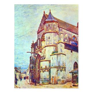 Église de Moret, après la pluie par Alfred Sisley Carte Postale
