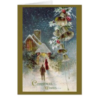 Église de Noël et carte de Bells