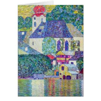 Église de St Wolfgang par Gustav Klimt, art Carte De Vœux
