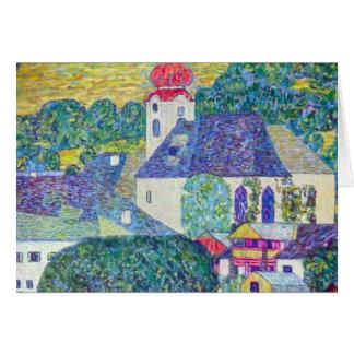 Église de St Wolfgang par Gustav Klimt, art Cartes