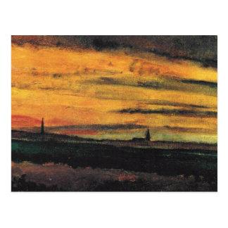 Église de Van Gogh aux beaux-arts vintages Carte Postale