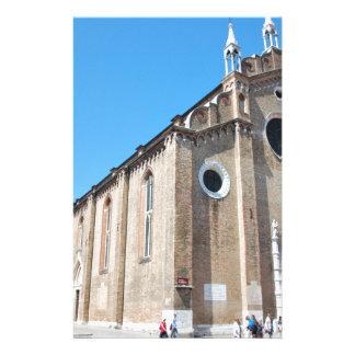 Église de Venise Motifs Pour Papier À Lettre