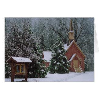 Église de Yosemite dans la neige Carte De Vœux
