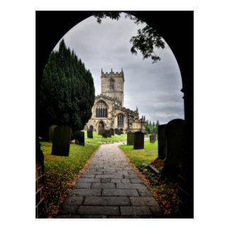 église d'ecclesfield carte postale