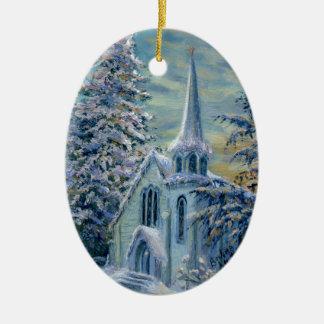 """""""Église ornement dans neige"""""""
