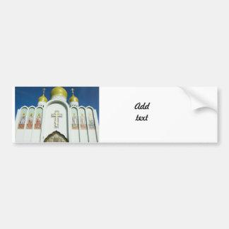 Église orthodoxe russe autocollant pour voiture