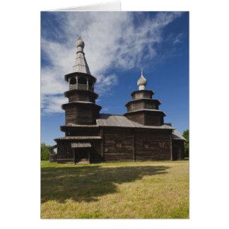 Église orthodoxe russe en bois de Ttraditional Cartes