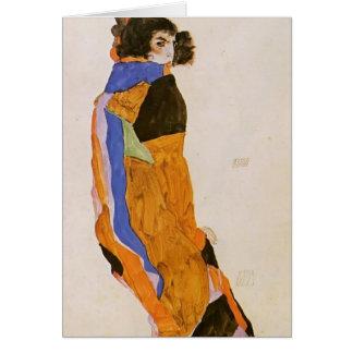 Egon Schiele- le MOA de danseur Carte De Vœux