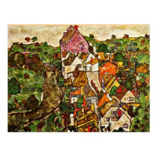 Egon Schiele - Stein sur le Danube Carte Postale